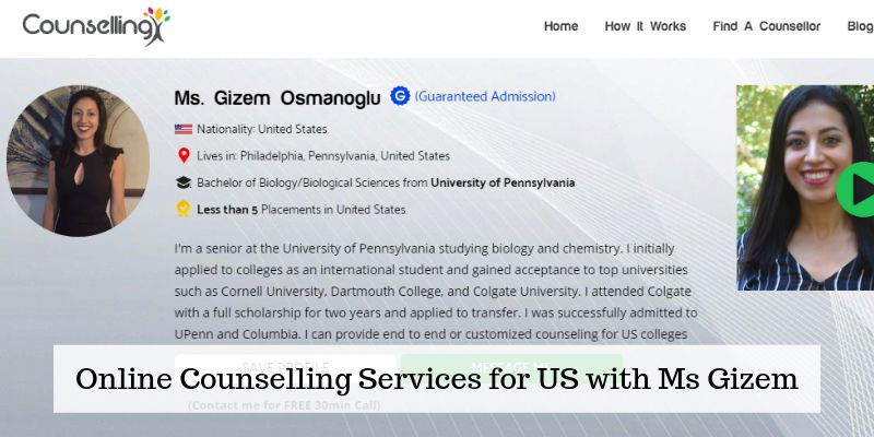 Online Counselling Services for US with Ms Gizem - Counsellingx
